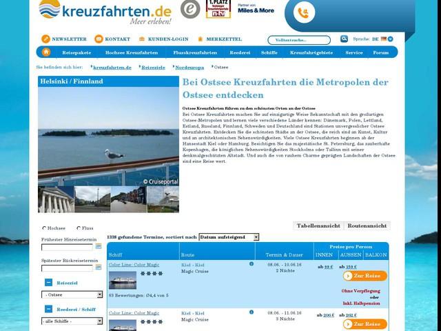 Ostsee Kreuzfahrten günstig online buchen bei kreuzfahrten.de