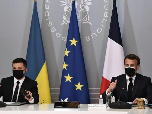 Merkel, Macron und Selenskyj fordern russischen Truppenabzug von Grenze zu Ukraine