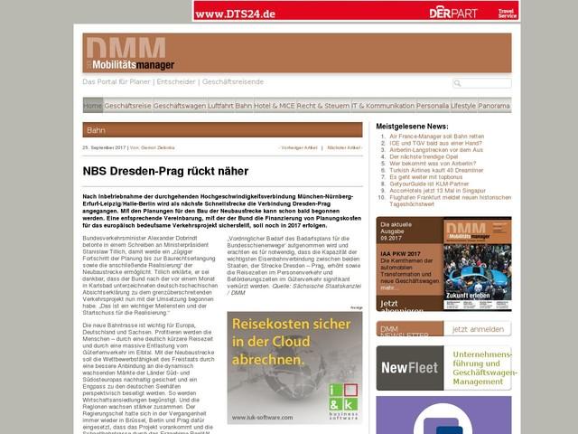NBS Dresden-Prag rückt näher