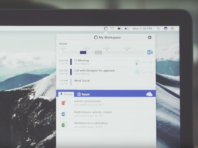 My Workspace: Microsoft bringt macOS-Toolbar für Office 365