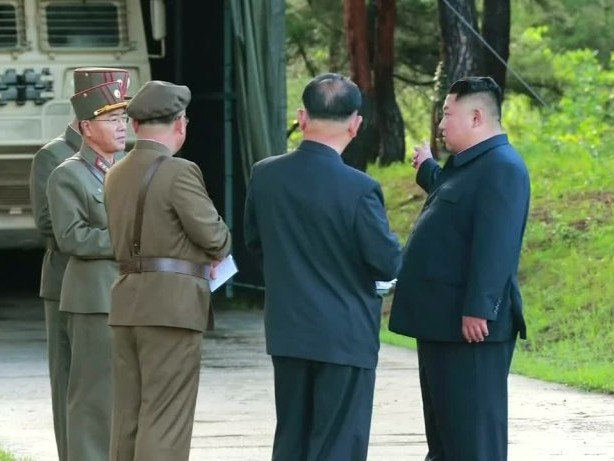 Kim nahm an nordkoreanischem Raketentest teil