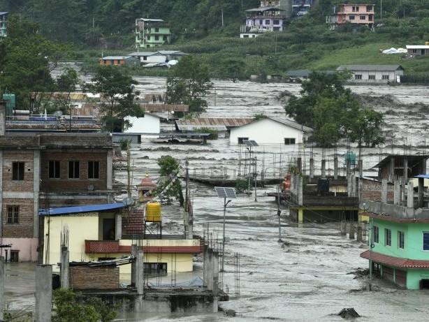Verheerende Überschwemmungen in Nepal