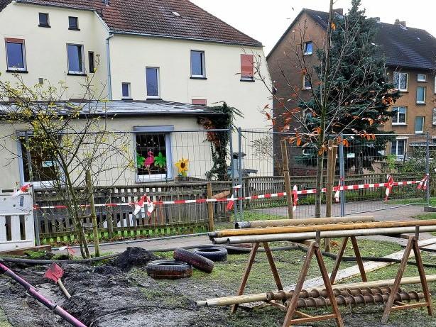 Bergbau: Witten-Annen: Bergschäden auf Kita-Spielplatz entdeckt