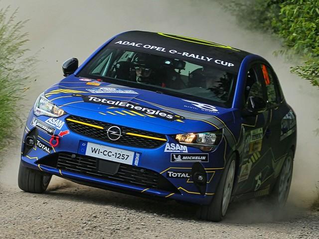 ADAC Opel e-Rally Cup Pellier im Opel Corsa-e nicht zu besiegen
