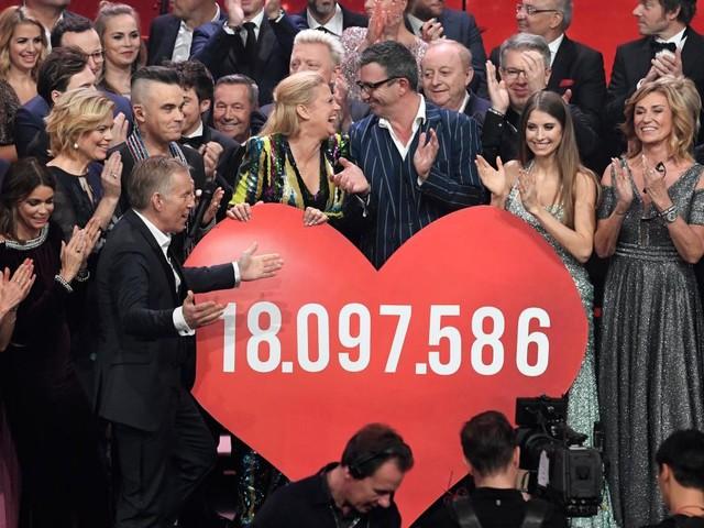 """""""Ein Herz für Kinder"""" - Prominente sammeln mehr als 18 Millionen Euro ein"""