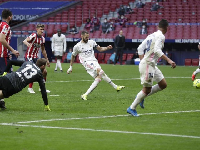Primera Division: Benzema rettet Real Punkt im Derby bei Atlético