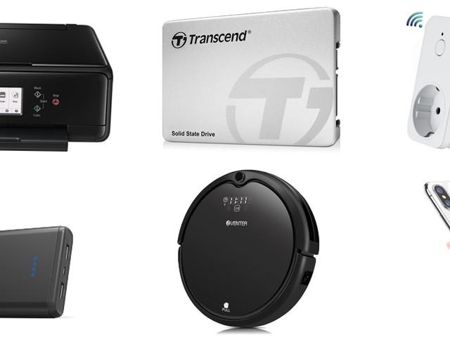 Amazon Blitzangebote: 128GB SSD, iPhone X Cases, 4k Actioncams, Multufunktionsdrucker. Qi-Ladegeräte, Alexa-Steckdose, smarte LEDS und mehr