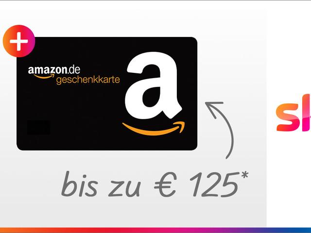 125 Euro: Jetzt Amazon-Gutschein für Sky-Kunden