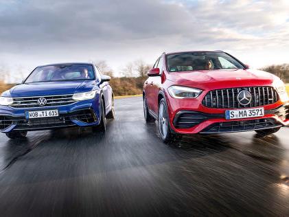 VW Tiguan R, Mercedes-AMG GLA 35: Test, SUVs, Motor, Preis Hoch sitzen, tief fliegen: Der AMG GLA 35 fordert den Tiguan R heraus