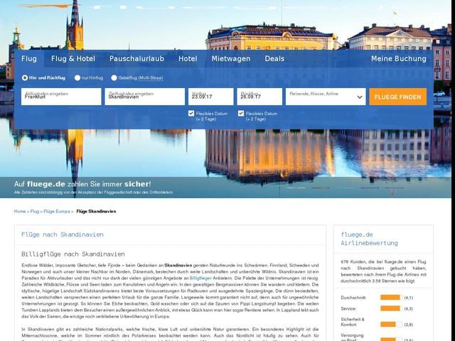 Flug Skandinavien: Flüge & Billigflüge nach Skandinavien günstig online buchen | fluege.de