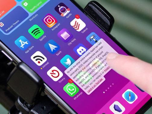 Neu mit iOS 15: Drag-and-Drop über mehrere Apps hinweg