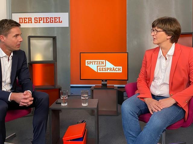 """Saskia Esken über Friedrich Merz und Christian Lindner: """"Abgründe, in die wir da blicken"""""""