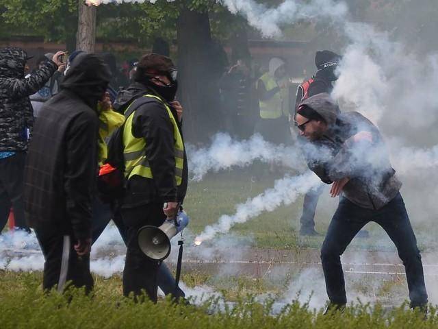 Gelbwesten-Proteste in Frankreich: Ausschreitungen in Straßburg