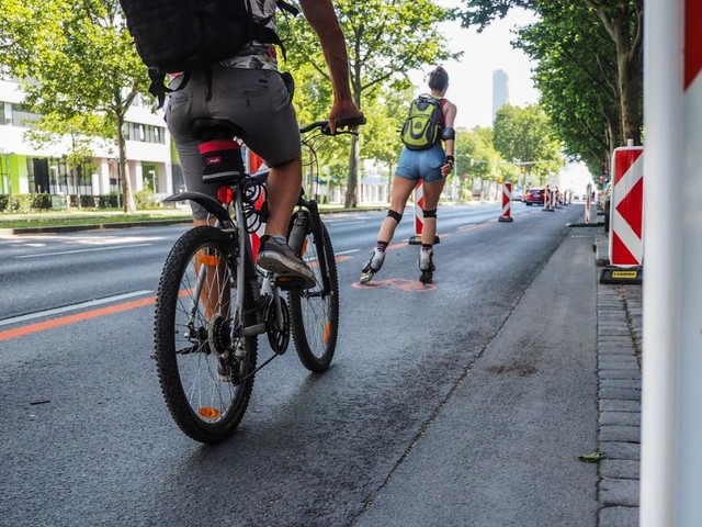 Studie belegt: Radfahrer mögen Pop-up-Radwege