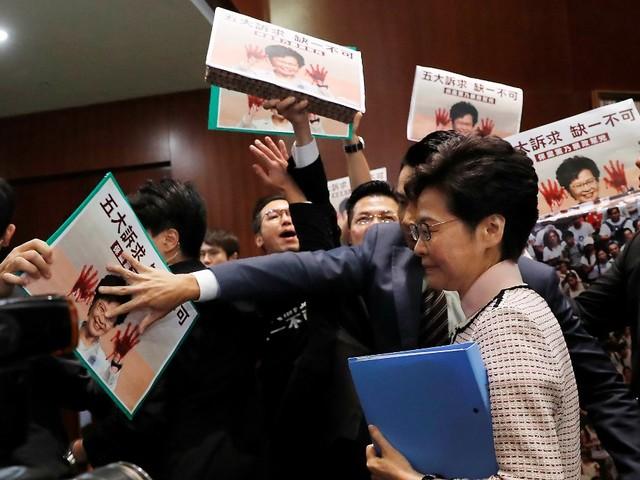 Regierungserklärung in Videoform: Proteste stoppen Statement in Hongkong