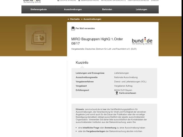 MIRO Baugruppen HighQ 1.Order 08/17