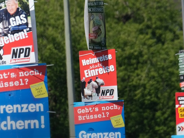 Volksverhetzung: NPD unterliegt im Streit um Wahlplakate erneut