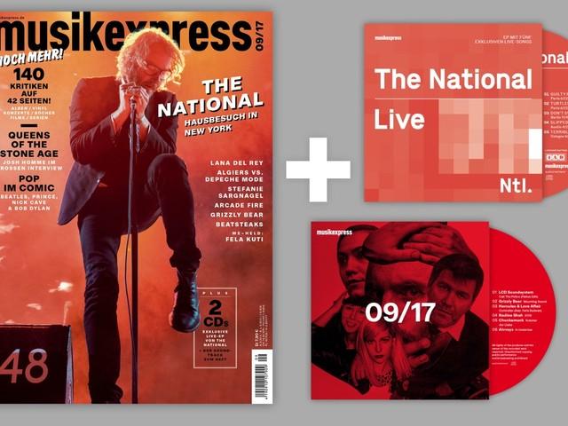 Der neue Musikexpress mit The National & Live-EP, Lana Del Rey, Arcade Fire und Beatsteaks – jetzt am Kiosk!