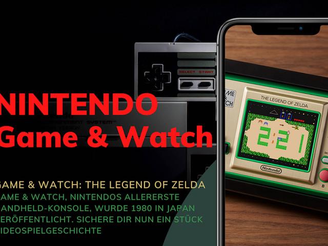 Nintendo präsentiert uns Zelda als Game & Watch | Handheld und Uhr mit The Legend of Zelda