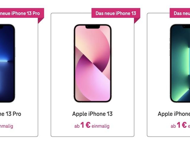 Telekom: Vertragsverlängerung mit dem iPhone 13 (Pro) bereits möglich