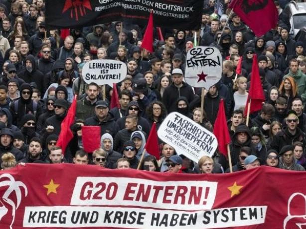 Verdächtige festgenommen: Grüne rufen G20-Gegner in Hamburg zu Gewaltlosigkeit auf