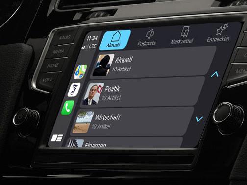 F.A.Z. stellt Inhalte per CarPlay zur Verfügung