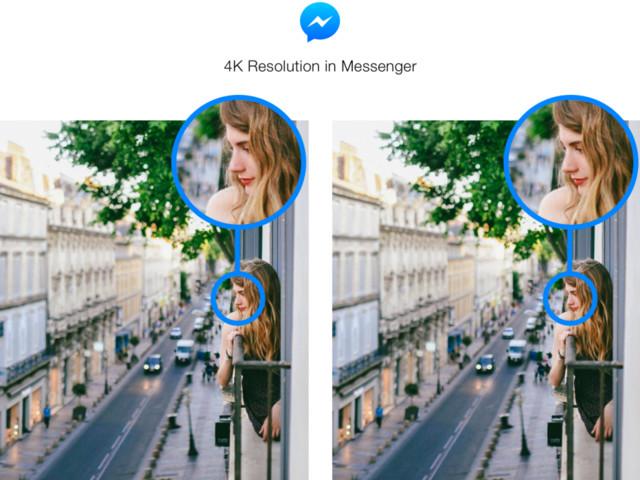 Facebook Messenger unterstützt Fotos in 4K