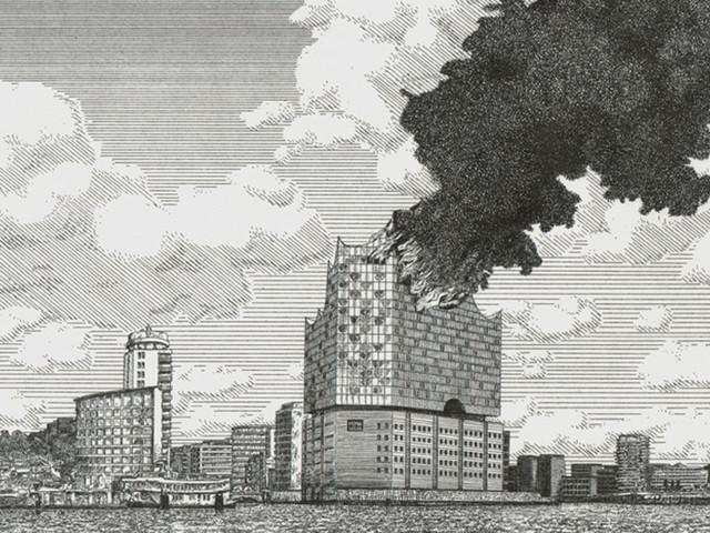 Dystopia I: Der Verlust der hamburgischen Elbphilharmonie durch den Großbrand am 29. Mai des Jahres 2019