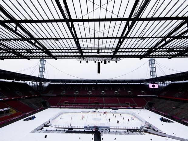 Zum 222. Mal Haie gegen DEG: DEL-Winter-Game: Rhein-Derby vor knapp 50.000 Menschen
