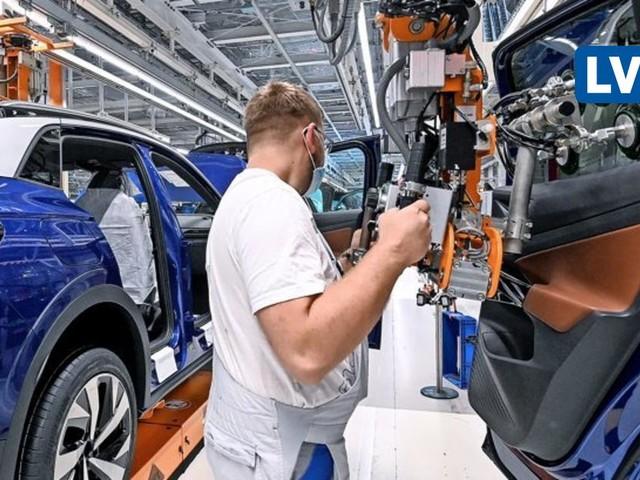 VW stoppt die Produktion in Sachsen