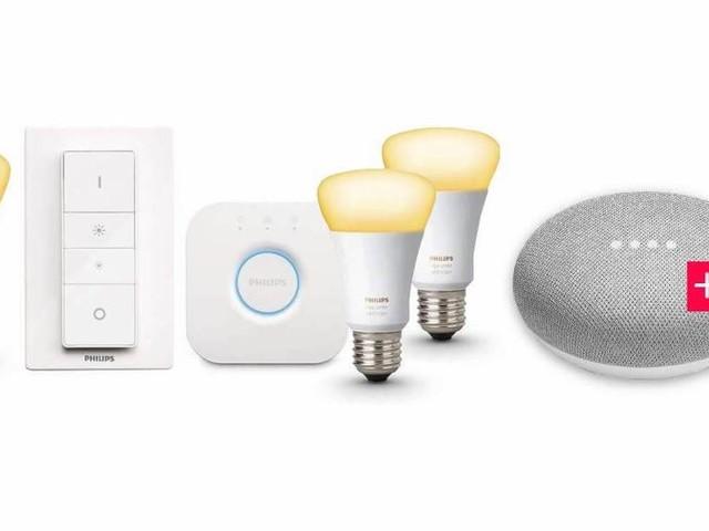 Philips Hue White Ambiance Kit plus Google Home Mini für nur 139 Euro