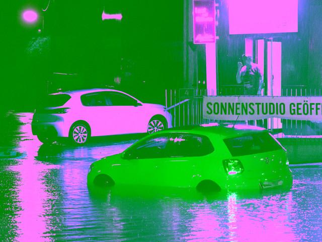 Sturm und Hagel sorgen für Hochwasser in Graz