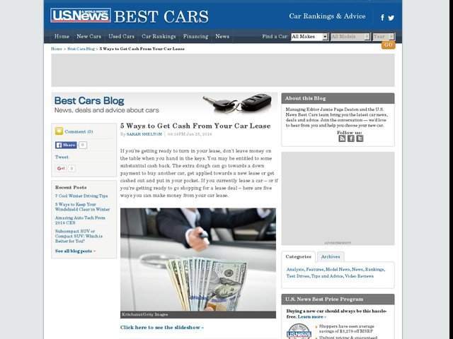 5 Ways to Get Cash From Your Car Lease