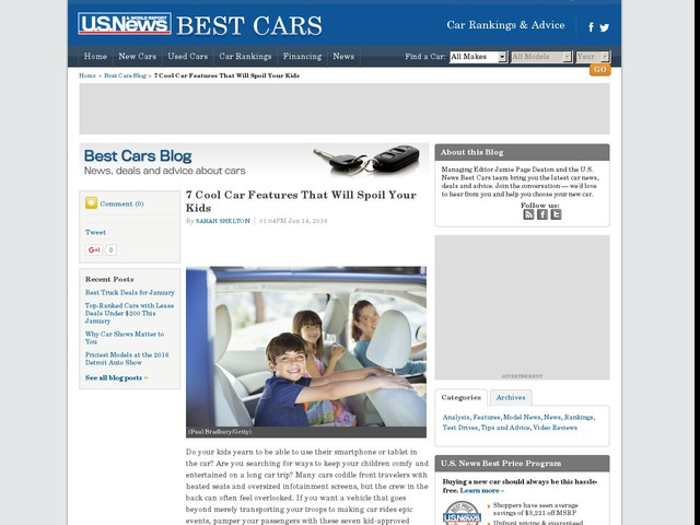 7 Cool Car Features That Will Spoil Your Kids