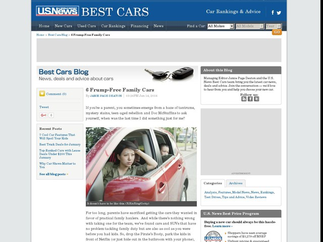 6 Frump-Free Family Cars