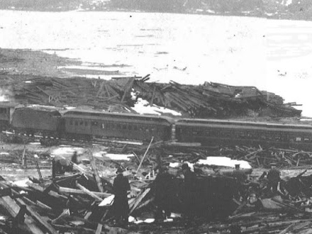 The Halifax explosion of 1917, largest explosion on earth before the atomic bomb was invented... and it happened in peacetime, by accident, in the middle of the downtown harbor