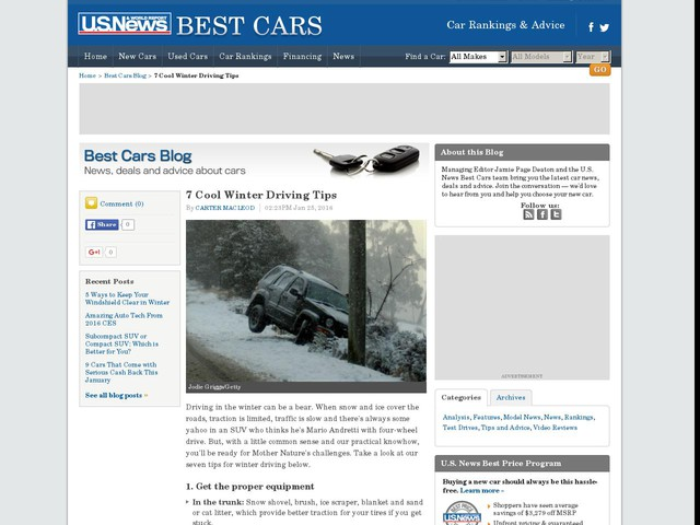 7 Cool Winter Driving Tips