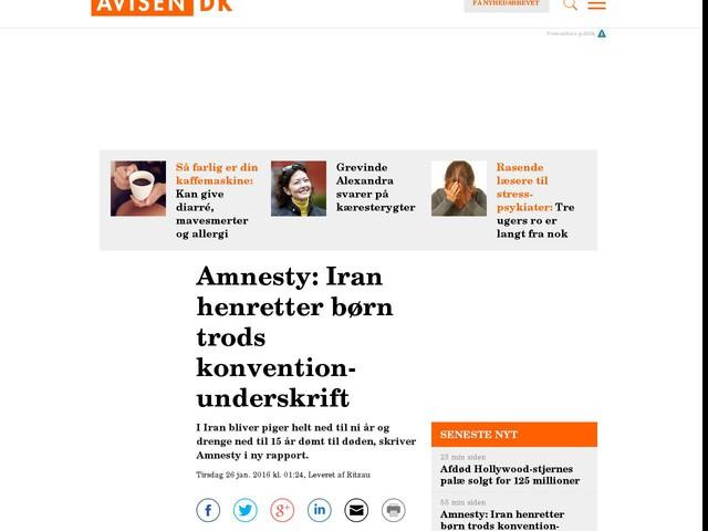 Amnesty: Iran henretter børn trods konvention-underskrift