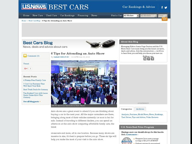 6 Tips for Attending an Auto Show