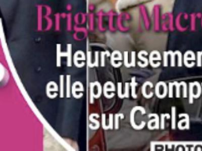Carla Bruni défigurée par le botox, étrange «tête» face Brigitte Macron (photo)