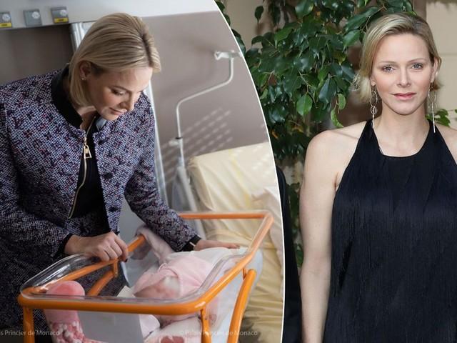 Charlène en visite à la maternité, 5 ans après la naissance de ses jumeaux