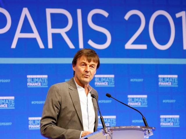 Sommet climat: Nicolas Hulot ne veut «plus un euro alloué aux énergies fossiles»