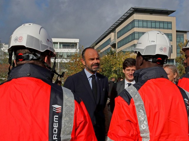 Paris 2024 : Edouard Philippe donne le coup d'envoi des travaux