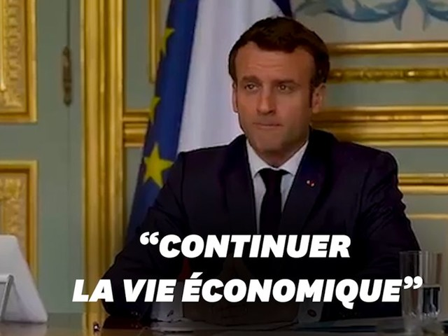"""Malgré le coronavirus, Macron appelle les Français à """"continuer à travailler"""""""
