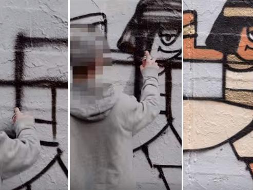 Humour et créativité contre les tags nazi à Berlin (vidéo)