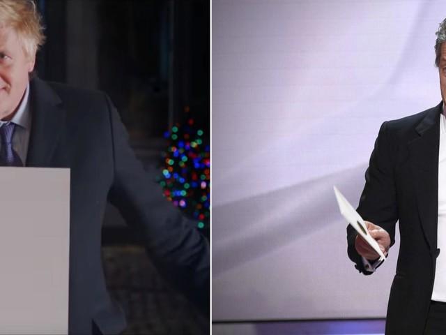 "Boris Johnson agace Hugh Grant en parodiant ""Love Actually"" pour un clip de campagne"