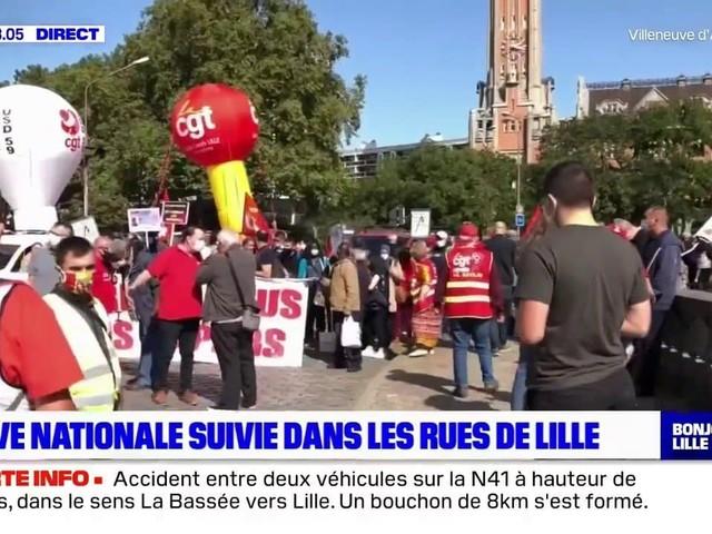Grève nationale: un millier de personnes dans les rues de Lille