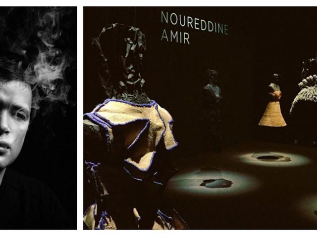 """Les """"robes sculptures"""" de Noureddine Amir habillent le musée Yves Saint Laurent de Marrakech"""
