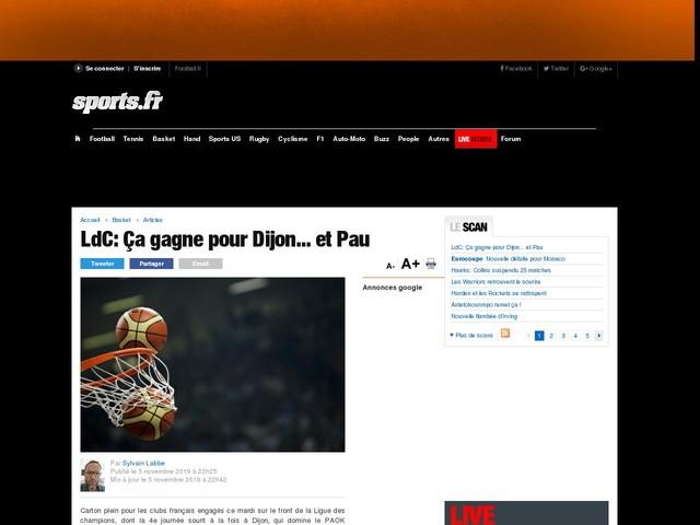 LdC:Ça gagne pour Dijon... et Pau