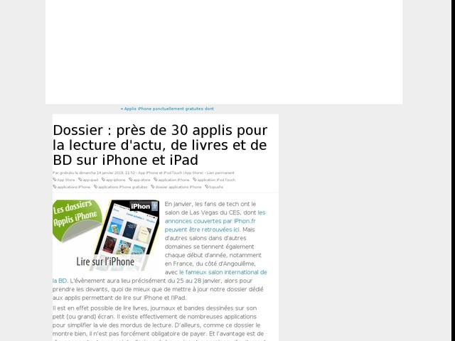 Dossier : près de 30 applis pour la lecture d'actu, de livres et de BD sur iPhone et iPad